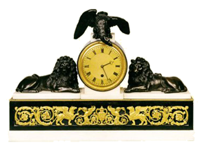 Vulliamy, London - Number 458  Mantel Clock